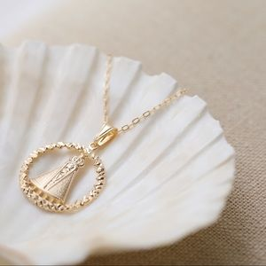 Virgin Mary Crown Necklace | 18k Gold Filled